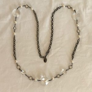 WHITE HOUSE BLACK MARKET gunmetal necklace
